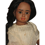 BLACK SIMON & HALBIG character, very rare doll  1358 11 inch