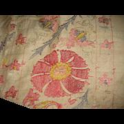 Beautifull Big Silk Antique  SUZANI.hand embroiderie