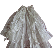 Beautiful Antique -vintage Christening Dress-Cape-Underdress.embroiderie.