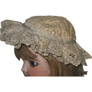 Pretty Antique Wired BONNET-Hat.for around 16 inch doll