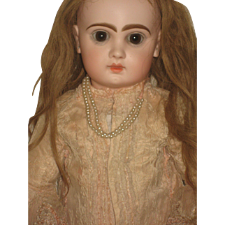Jumeau Doll Very Beautiful Antique Dress 25 inch