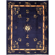 Antique Chinese rug with Peking design made circa 1900