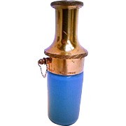 A Delightful French Antique: Blue Opaline Piston Perfume Atomizer