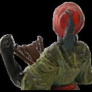 OK1 - Orientalist Art - Hollowcast Figurine - Cold Painted Antique NODDING - Moorish Musician - Kurian Iritungu Player