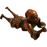 GULLIVER SALE 1 - Orientalist Art - Cold painted bronze figurine - Young Man