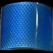 Antique Silver Guilloche Enamel Cut Glass Perfume Scent Bottle