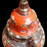 1950's Porcelain Rauchverzehrer Air Purifier / Perfume Table Lamp from Germany - Leaves & Stars