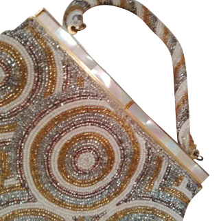 THIS Outstanding Vintage Microbead Motif Purse for THAT special outfit of yours