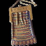 1920's Vintage Original WHITING & DAVIS Colored Metal MESH PURSE Handbag