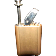 PERFU-MATIC - GOLD - Kent Travel, Pocket, Purse Perfume Atomizer Sprayer - Lighter Shaped