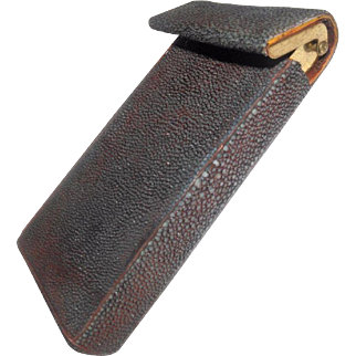 SHAGREEN - Beautiful Vintage Rectangular Leather Case
