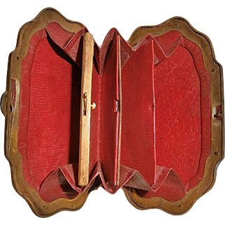 SHAGREEN - 19th Century Coin Purse with secret compartment