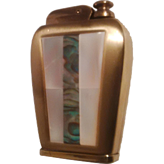"""Mid-Century Gold Plated """"Corona"""" Perfume Atomizer shaped as a lighter - D2"""