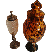 GREAT GIFT IDEA - D1 - Retro Vintage Perfume Fountain in thick pressed glass for your favorite cologne - Transform your Boudoir!