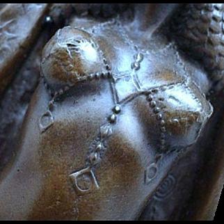 "Stunning ""ANTINEA"" - Classic Art Deco Dancer Bronze Sculpture After D.H. CHIPARUS"