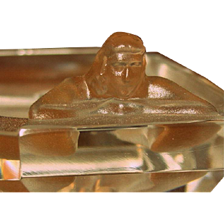 Bohemian Desná Nude Pin Tray - Frosted and Clear Vintage Collectible - Exquisite piece of handmade Art Glass - Zen! Additional $50 off - D2 - Gorgeous