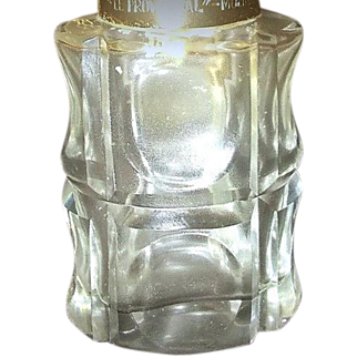 """RARE Molinard  Perfume Atomizer with LALIQUE Crystal and  """"Le Provençal"""" hardware - France"""