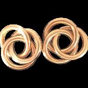 14 KT Gold Double Knot Earrings