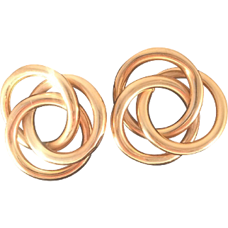 14 KT Gold Double Knot Earrings