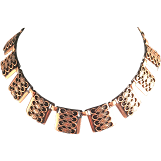 Copper Renoir-Matisse Stylized Necklace