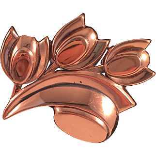 Tulip Renoir Copper Pin