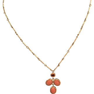 Orange Sapphire Necklace, 18-karat gold