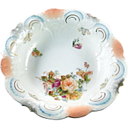 Larger ornate ceramic bowl, floral design, excellent condition