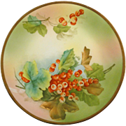 Royal Rudolstadt Prussia decorative plate with handpainted holly