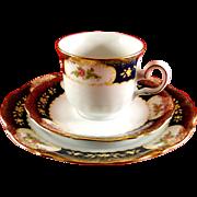 Winterling Marie Louise cobalt dessert set