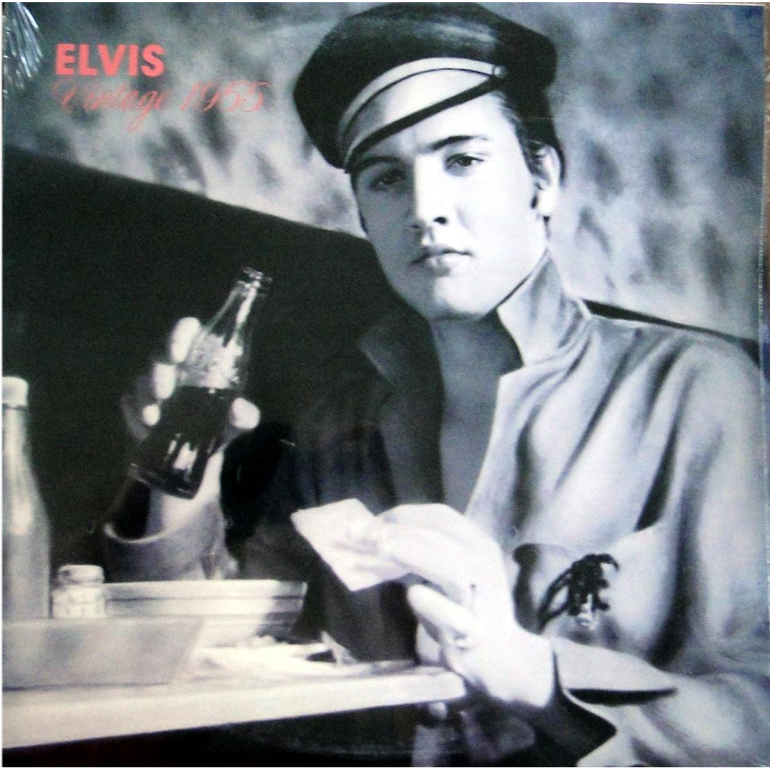 Elvis Presley Vinyl Album Elvis Vintage 1955 On Oak