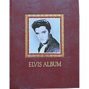 Elvis Presley hardback book, scrapbook style, ELVIS ALBUM from 1991