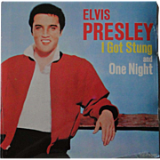Elvis Presley Canadian 45 with picture cover of I GOT STUNG, sealed, commemorative 1980s