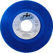 Elvis Presley 45 on blue vinyl, Collectables label, Good Rockin' Tonight