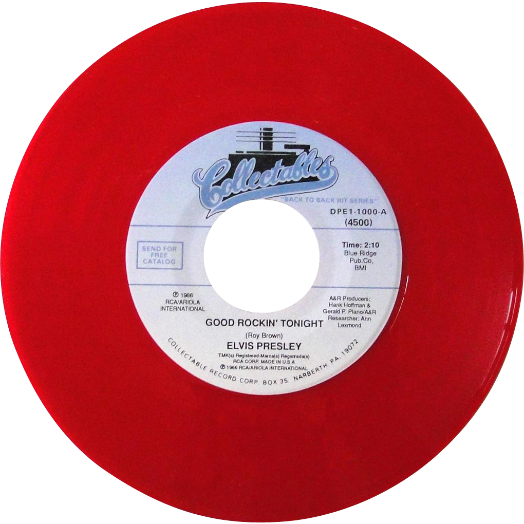Elvis Presley Limited Edition Red Vinyl 45rpm Record Good