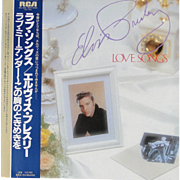 "Vintage Elvis Presley album ""Love Songs"", unique package made in Japan from 1981"