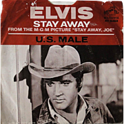 "2 Elvis Presley 45s, ""Stay Away Joe"" with picture sleeve, promotional 45 of ""Hurt"""