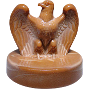 Fenton chocolate glass bicentennial Eagle excellent condition