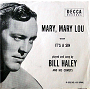 "Bill Haley 45rpm record from 1957 with original picture sleeve ""Mary Mary Lou"""