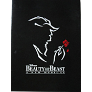 1994 program for Disney's musical stage show Beauty and The Beast