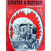 Country and Western Souvenir Program circa early 1960s with lots of photos