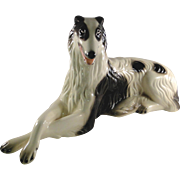 Vintage ceramic Borzoi dog figurine from Cuernavaca Mexico