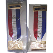 2 political ribbons from the 52nd Inauguration for Bill Clinton