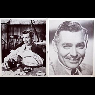 2 vintage 8x10  prints of Clark Gable, nice vintage condition