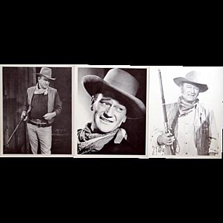 3 vintage John Wayne movie stills
