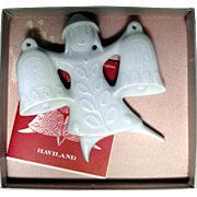Haviland porcelain Christmas ornament by Jean-Jacques Prolongeau from 1973 - Red Tag Sale Item