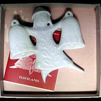 Haviland porcelain Christmas ornament by Jean-Jacques Prolongeau from 1973