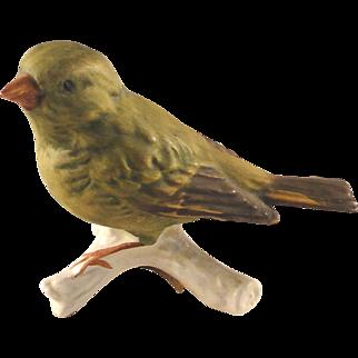 Vintage Goebel Greenfinch bird figurine, excellent condition