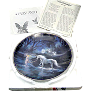 "Bradford Exchange plate ""Trails of Starlight"" from 1994 with papers and mailer, excellent condition"