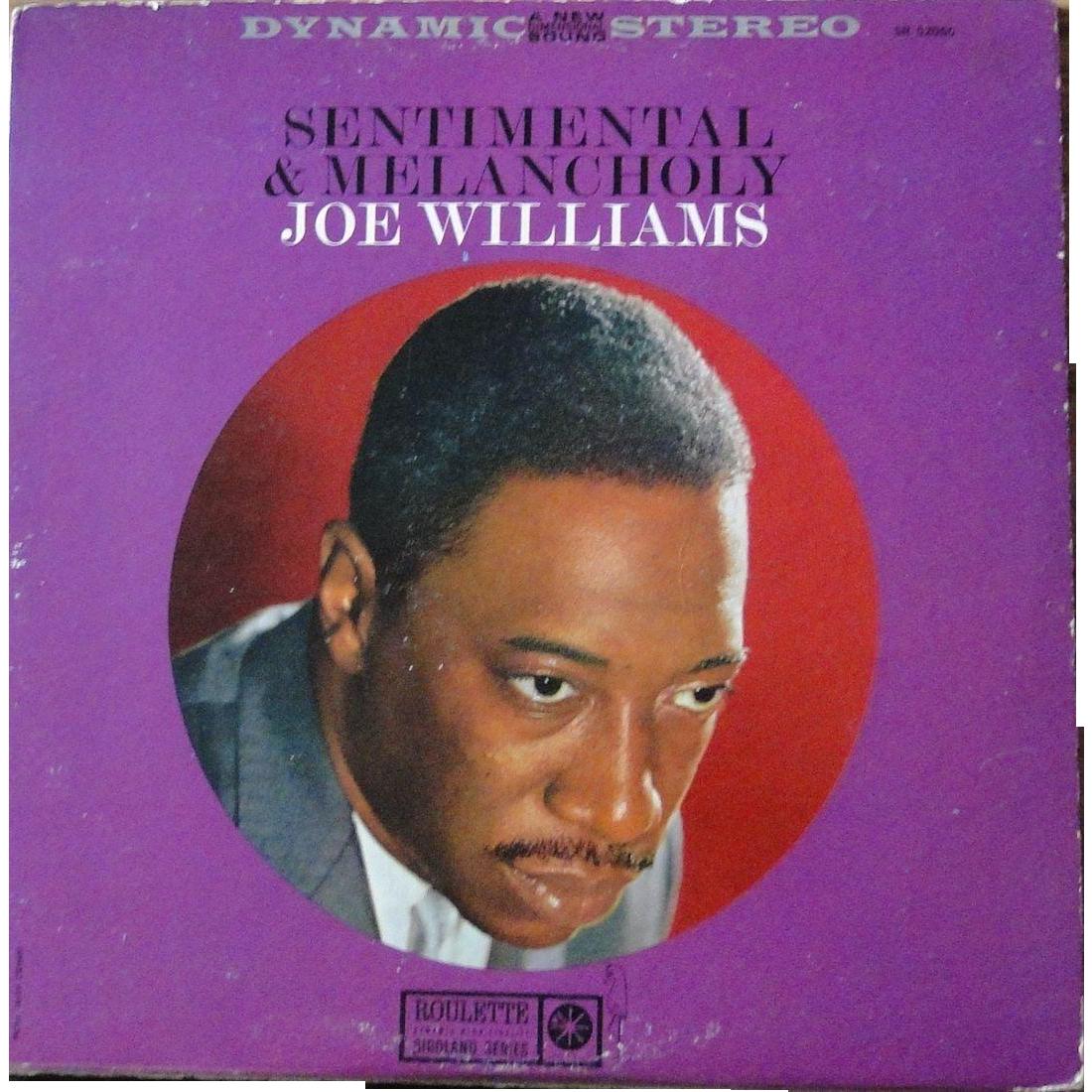 Vintage Phonograph Album By Joe Williams Jazz Singer On