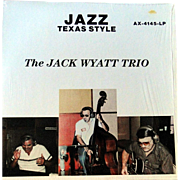 "Rare local San Antonio jazz album by the Jack Wyatt trio from 1984 ""Jazz Texas Style"" in excellent condition"